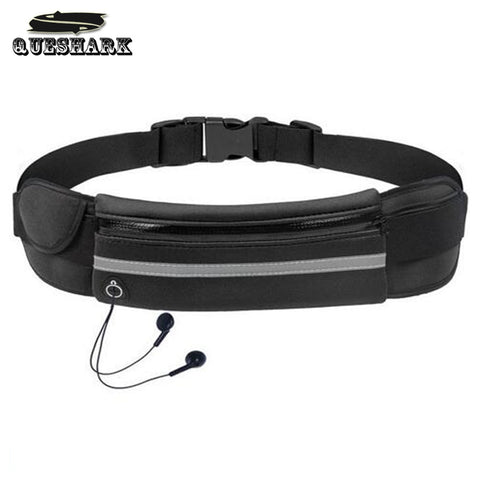 Queshark Outdoor Waterproof Men Women Running Waist Bag Fitness Packs Mobile Phone Holder Jogging Sports Running Belt Water Bags