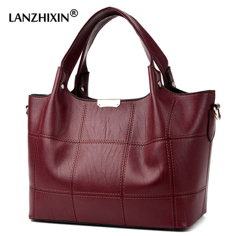 Women Leather Handbags Women Soft Water Leather Shoulder Bags Handbag High Quality Women Patchwork Small Messenger Bags 3086