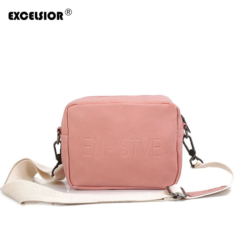 EXCELSIOR 2018 Solid PU Leather Crossbody Bag Women Flap Handbags Bags Ladies Shoulder Bags For Female with Single Strap G1796