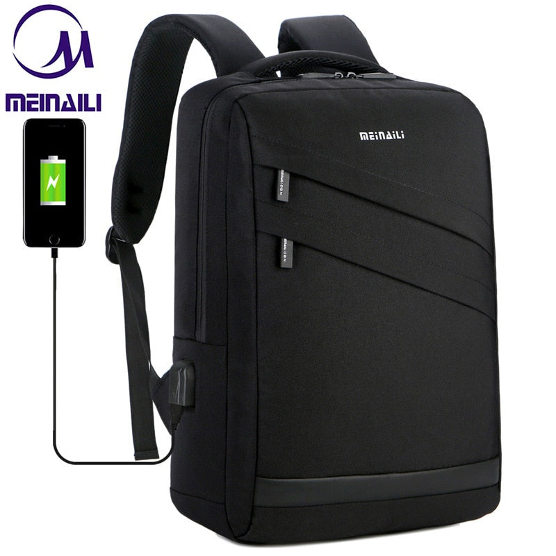 Business Laptop Backpack 14 15.6 inch Fashion Men Travel Back Pack Multifunction Nylon School Black Bagpacks For Teenagers