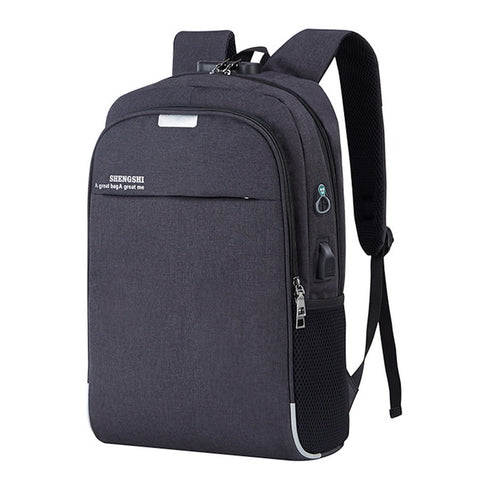 MoneRffi Backpack Laptop Backpack USB Charging Backbag Travel Daypacks Male School Bookbag Leisure Backpack Anti Theft Mochila