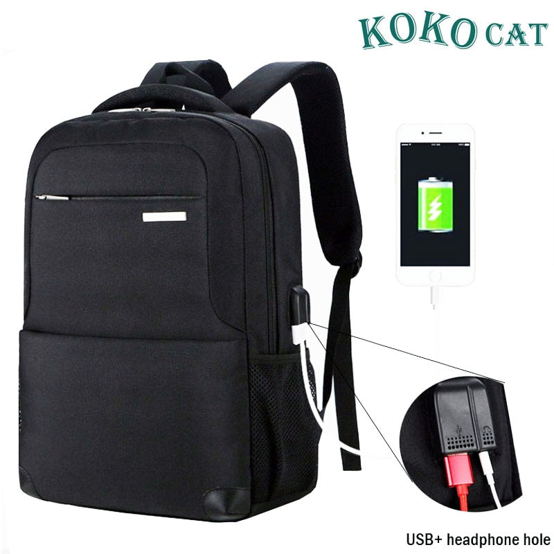 USB Charging Laptop Backpack 15.6 inch Laptop Notebook Women Men Waterproof School Bag For Teenage College Travel Backpack Nylon
