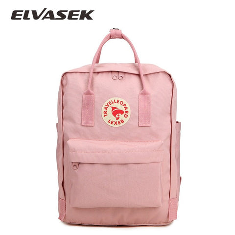 ELVASEK New Fashion Design Students Bag Backpack Arrival Children Solid Waterproof Oxford Backpacks Classic Student School Bags