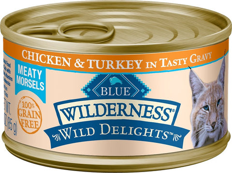 Blue Buffalo Wilderness Wild Delights Chicken and Turkey Canned Cat Food