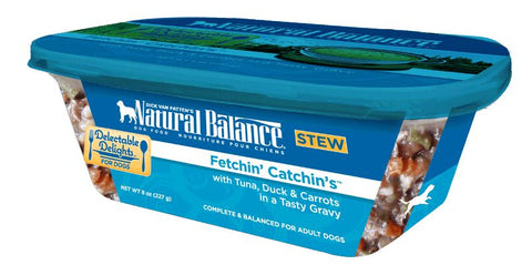 Natural Balance Delectable Delights Fetchin Catchins Flavor Wet Dog Food
