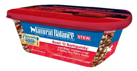Natural Balance Delectable Delights Bowl O Barkgundy Flavor Wet Dog Food