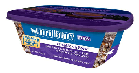 Natural Balance Delectable Delights ChopLickn Stew Flavor Wet Dog Food
