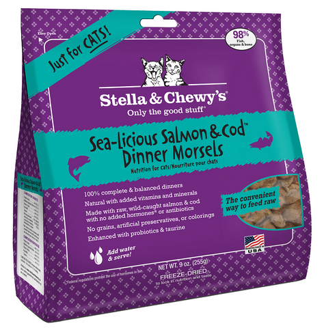 Stella & Chewy's Sea Licious Salmon and Cod Freeze Dried Dinner Cat Food