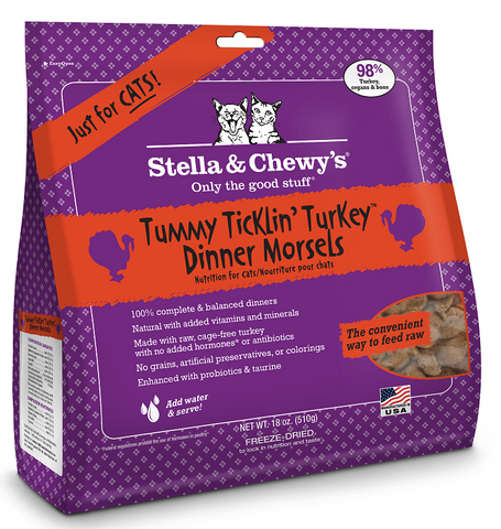 Stella & Chewy's Tummy Ticklin Turkey Freeze Dried Dinner Cat Food