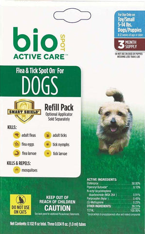 Bio Spot Active Care Flea and Tick Spot for Small Dogs