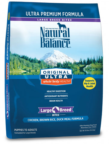 Natural Balance Original Ultra Whole Body Health Chicken, Brown Rice and Duck Meal Large Breed Bites Formula Dry Dog Food