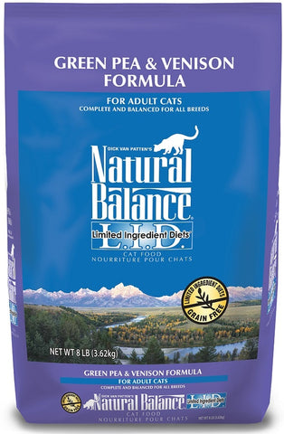 Natural Balance L.I.D. Limited Ingredient Diet Adult Grain Free Green Pea and Venison Adult Dry Cat Food
