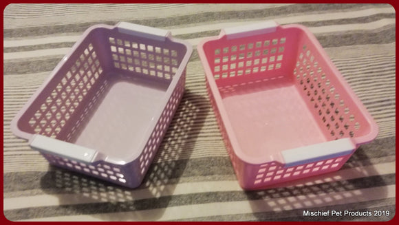 Plastic Basket - 20cm x 15cm - Mischief Pet Products