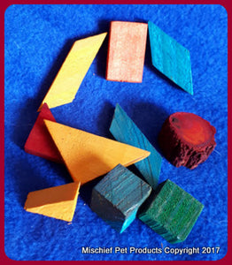 Wooden Chew Blocks - Mischief Pet Products