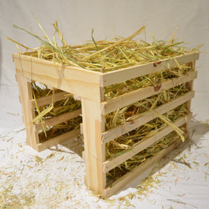 Njom Njoms Wooden Hay Tunnel - Mischief Pet Products