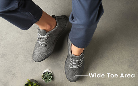 wider toe area daily wear shoes