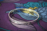 Flat Hammered Bangle