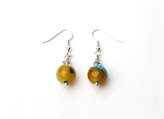 Effloresce Faceted Agate Earrings