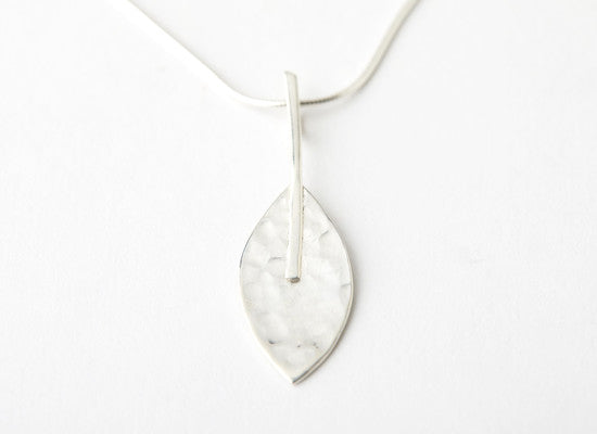 Hammered Leaf Pendant