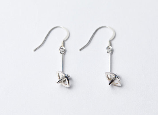 Silver Kiss Dropper Earrings