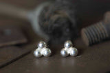 Silver Mini Seed Stud Earrings