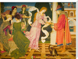 Joseph Edward Southall: Beauty receiving the White Rose from her Father