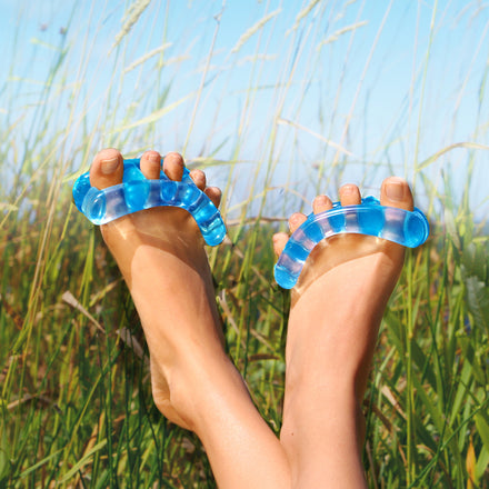 Healthy Feet Are Beautiful This simple foot fixer has changed foot health forever. People who have discovered YogaToes® are enjoying astonishing results: Instant Relief from Bunions, Hammer Toes, and Plantar Fasciitis. Because everyone deserves happy feet