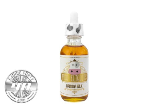 Banana Milk 60mL E Liquid by MOO eLiquids