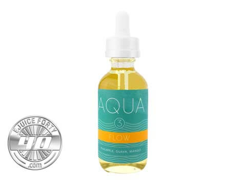 Flow Ice E Liquid by Aqua E Juice 120ml(Bundle)