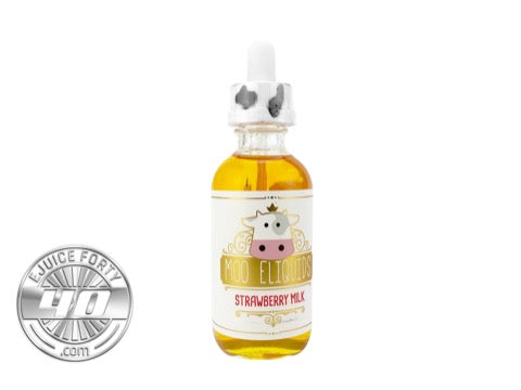 Strawberry Milk 60mL E Liquid by MOO eLiquids
