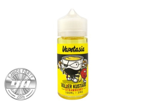 Strawberry Killer Kustard 100mL E-Liquid by Vapetasia