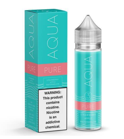 Pure Ice E Liquid by Aqua E Juice 120ml (Bundle)