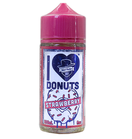 I LOVE DONUTS  STRAWBERRY BY MAD HATTER 100ML