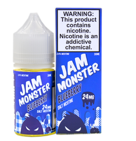 Blueberry E Liquid by Jam Monster Liquids Salt 30ml