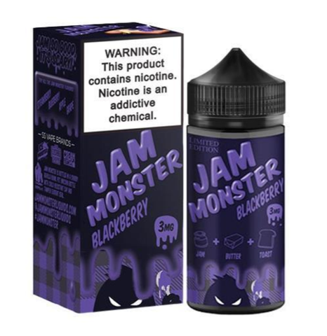 Blackberry E Liquid by Jam Monster 200ml (Bundle)