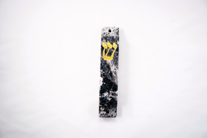 Black and White Mezuzah Case- Marble