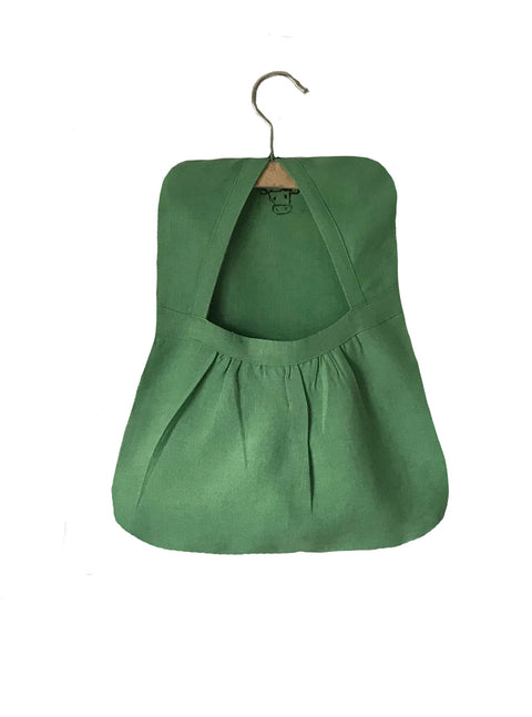 Canvass Green Linen Peg Bag