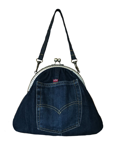 Clippy Bag made from Re-Worked Levis Jeans