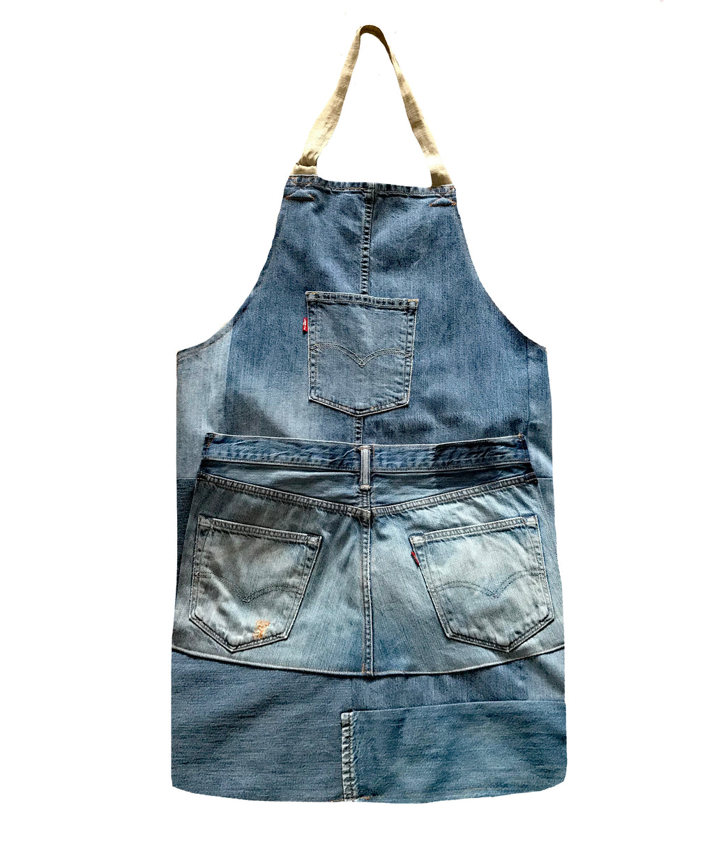 Artisan Aprons made from Re-Worked, Vintage Levis Jeans