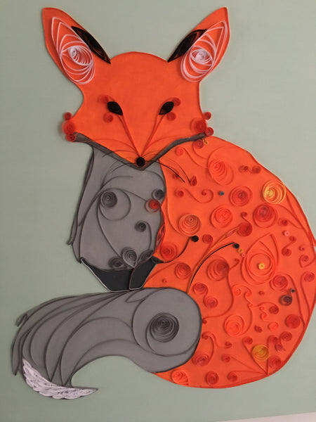 Orange & Gray Fox