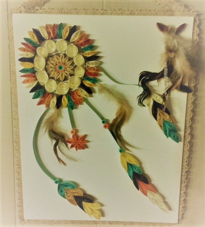 Dream catcher in earth tones