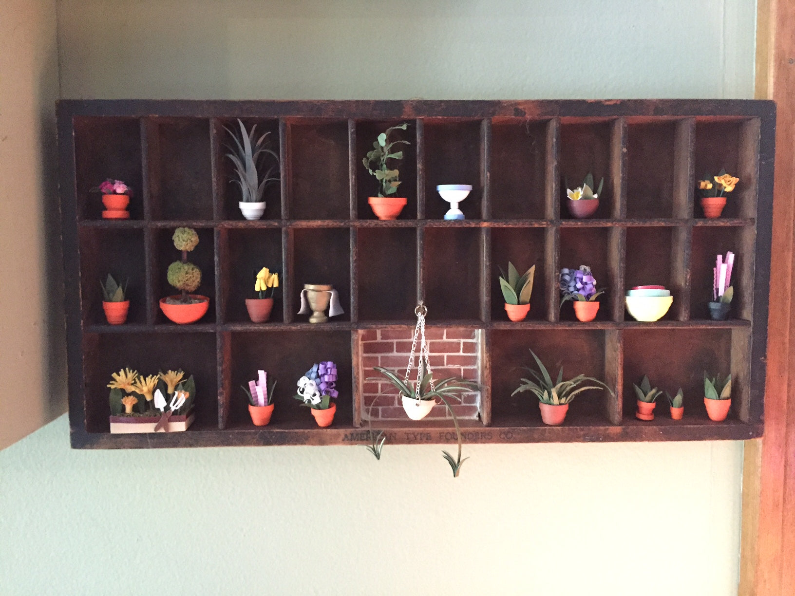 Potted Plants on Shelves