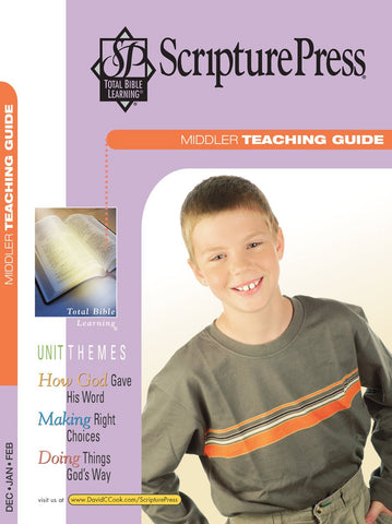 Scripture Press Middler Teaching Guide | Winter 2017-2018