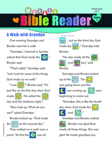 HeartShaper - Early Elementary Weekly Bible Reader Take-Home - Fall 2017