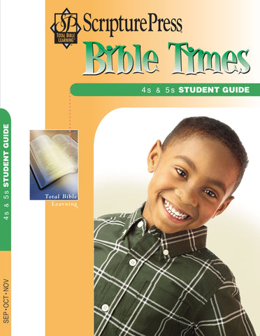 Scripture Press 4s & 5s Bible Times Student Guide - Fall 2017