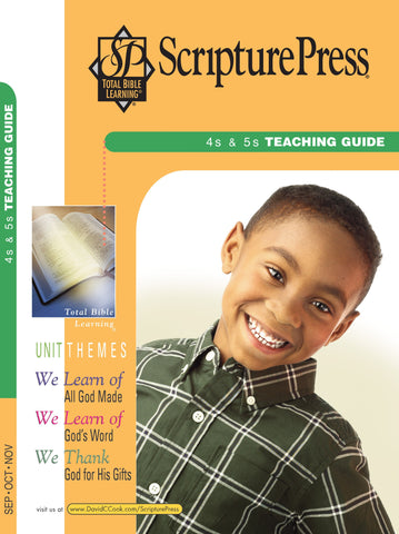 Scripture Press 4s& 5s Teaching Guide - Fall 2017
