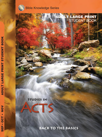 Scripture Press Adult Bible Knowledge Series Student Guide - Large Print - Fall 2017