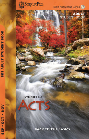 Scripture Press Adult Bible Knowledge Series Student Guide - Fall 2017