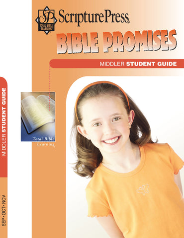 Scripture Press Middler Bible Promises Student Guide - Fall 2017