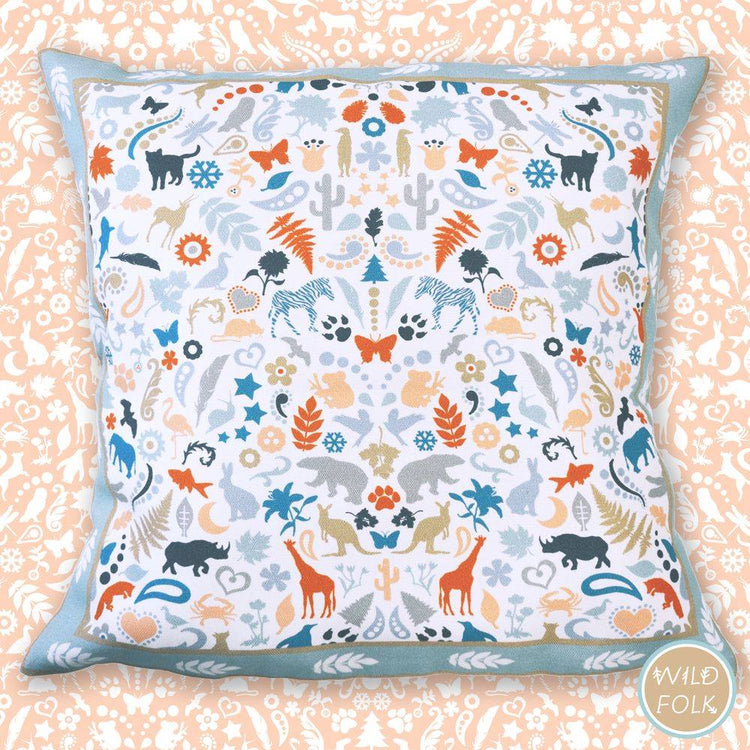 Wild Folk Print Cushion